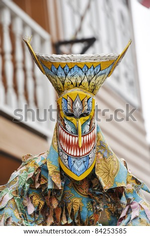 Ghost Mask Thailand Outdoor Yellow - stock photo