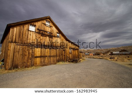ghost town Bodie nevada - stock photo