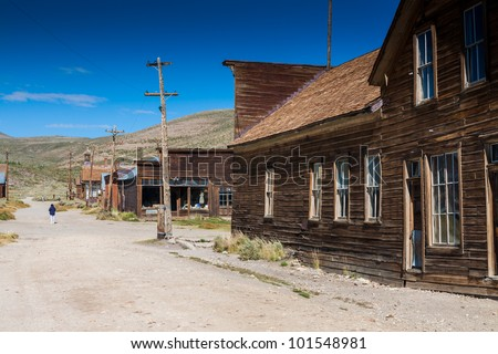 Ghost town Bodie state park - stock photo