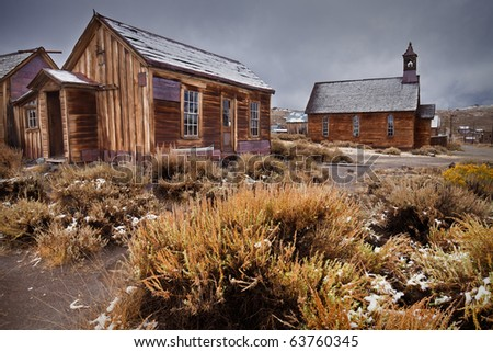 Ghost Town Building - Bodie, California - stock photo