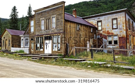 Colorado ghost towns stock images royalty free images for St elmo colorado cabins