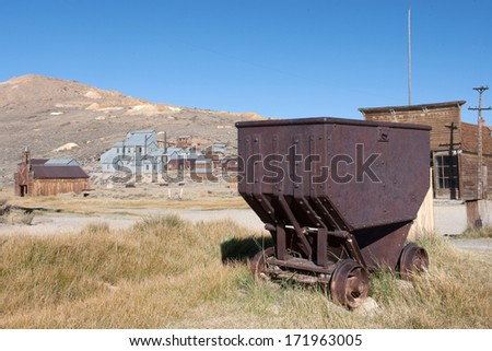Ghost town of Bodie, California - stock photo
