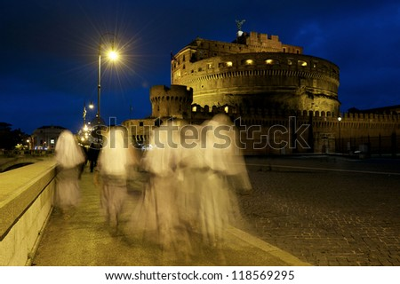 Ghosts in Rome - stock photo