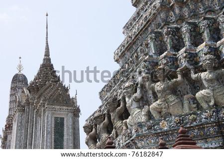 Giant at Wat Arun - stock photo