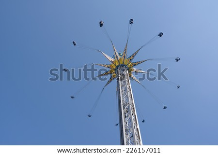 Giant attraction in prater on sky background - stock photo