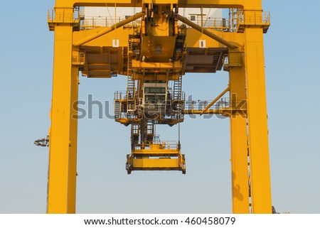Giant crane for loading containers from cargo ships.