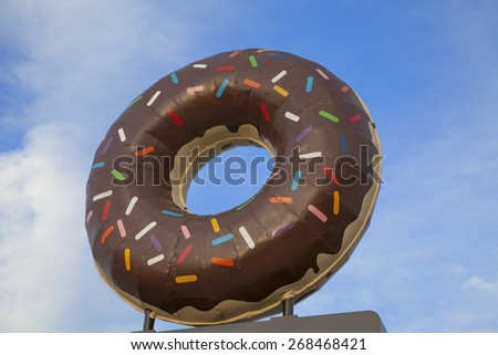 Giant Doughnut Sign - stock photo