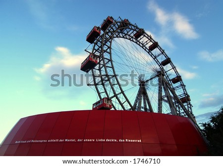 Giant Ferris Wheel in Vienna - stock photo