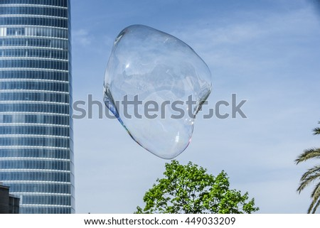 Giant Floating Soap Bubble