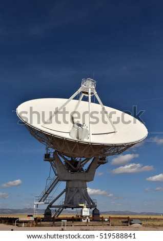 Giant radio telescope pointed into the sky