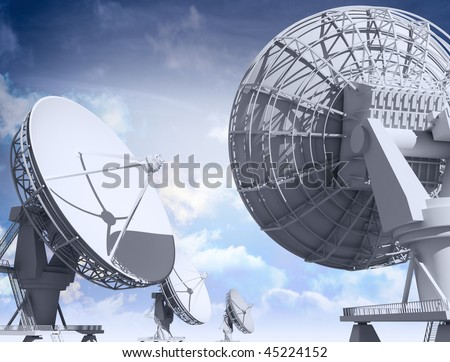 Giant radio telescopes