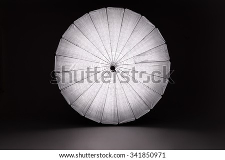 Giant Reflector Full Length Studio Equipment - stock photo