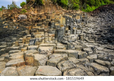 Giant's basalt causeway