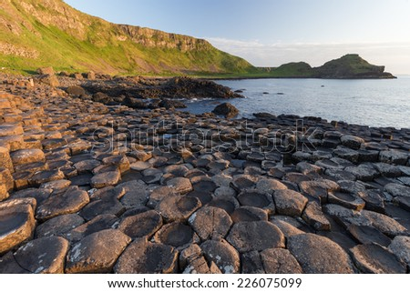 Giant's Causeway, Antrim, Northern Ireland - stock photo