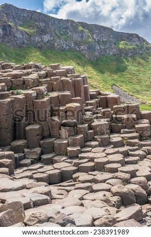 Giant's causeway in Northern Ireland - stock photo