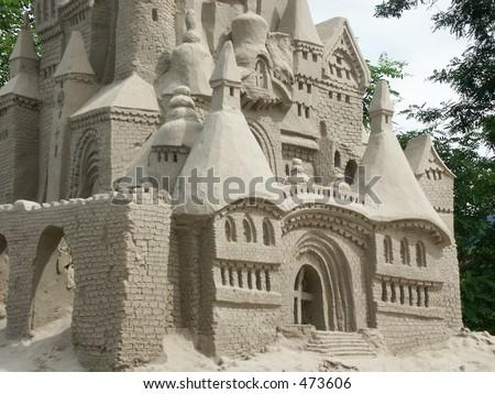Giant Sand Castle - stock photo
