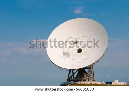 giant satellite dish for secret communications - stock photo