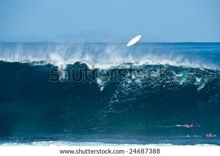 Giant surf - stock photo
