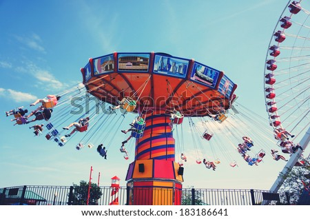 Giant Swing in summer  - stock photo
