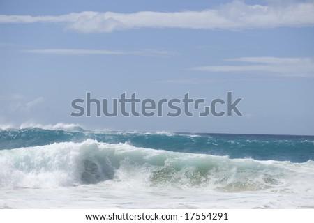giant waves on the horizon - stock photo