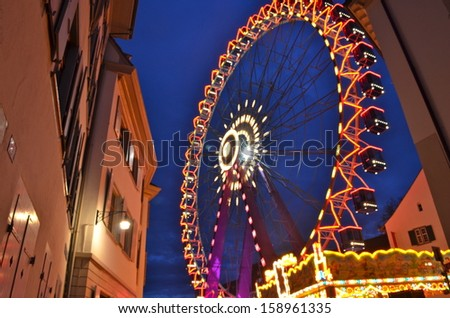 Giant Wheel, Basel Autumn Fair - stock photo