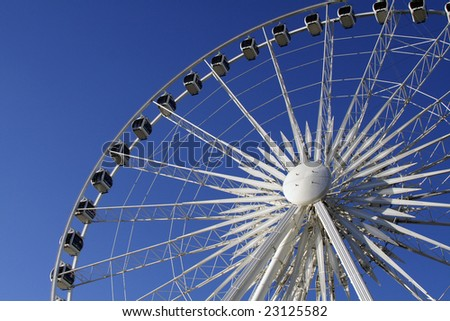 Giant Wheel isolated in blue sky background