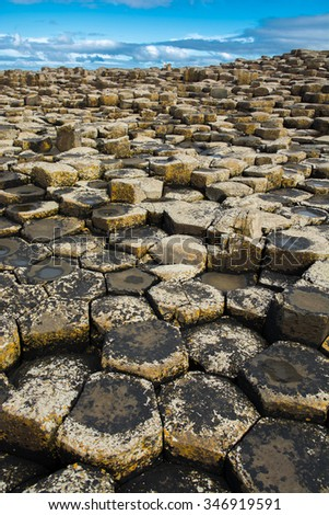 Giants Causeway in Northern Ireland - stock photo