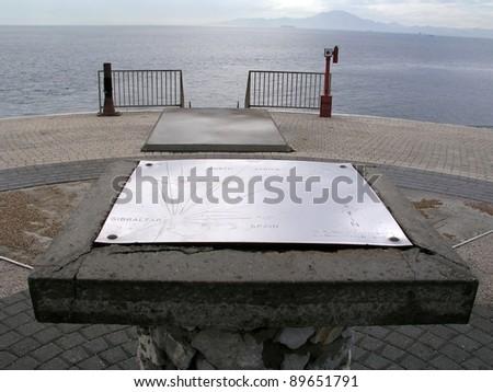 Gibraltar at Europa Point - stock photo