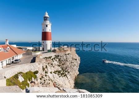 Gibraltar Lighthouse - stock photo