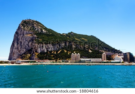 Gibraltar - the most south point of Europe, Spain - stock photo
