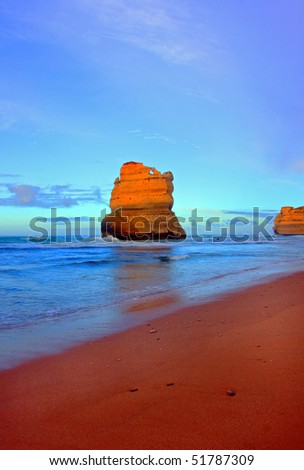 Gibson Steps along the Great Ocean Road - stock photo