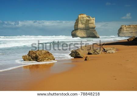 Gibson Steps and the Twelve Apostles - Victoria (Australia) - stock photo
