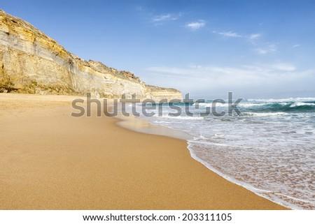 Gibson Steps beach, Victoria, Australia - stock photo
