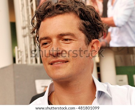 Giffoni Valle Piana, Sa, Italy - July 25, 2015: actor Orlando Bloom at Giffoni Film Festival 2015 - on July 25, 2015 in Giffoni Valle Piana, Italy