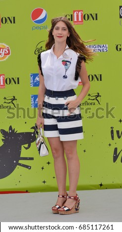 Giffoni Valle Piana, Sa, Italy - July 16, 2017 : Clara Alonso at Giffoni Film Festival 2017 - on July 16, 2017 in Giffoni Valle Piana, Italy