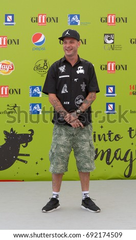 Giffoni Valle Piana, Sa, Italy - July 19, 2017 : Clementino at Giffoni Film Festival 2017 - on July 19, 2017 in Giffoni Valle Piana, Italy