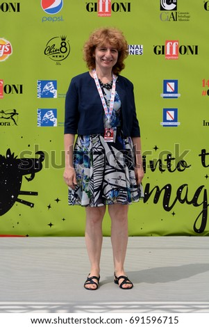 Giffoni Valle Piana, Sa, Italy - July 19, 2017 : Elena Jachia at Giffoni Film Festival 2017 - on July 19, 2017 in Giffoni Valle Piana, Italy