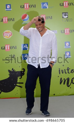 Giffoni Valle Piana, Sa, Italy - July 22, 2017 : Gabriele Muccino at Giffoni Film Festival 2017 - on July 22, 2017 in Giffoni Valle Piana, Italy