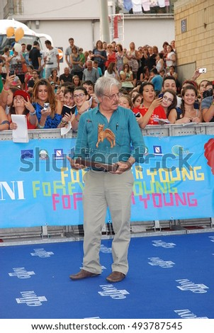 Giffoni Valle Piana, Sa, Italy - July 26, 2013 : Giancarlo Giannini at Giffoni Film Festival 2013 - on July 26, 2013 in Giffoni Valle Piana, Italy