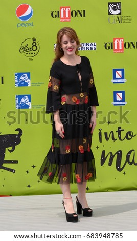 Giffoni Valle Piana, Sa, Italy - July 18, 2017 : Laura Esquivel at Giffoni Film Festival 2017 - on July 18, 2017 in Giffoni Valle Piana, Italy