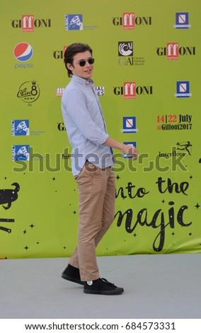 Giffoni Valle Piana, Sa, Italy - July 21, 2017 : Nick Robinson at Giffoni Film Festival 2017 - on July 21, 2017 in Giffoni Valle Piana, Italy