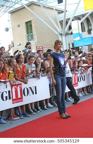 Giffoni Valle Piana, Sa, Italy - July 18, 2011 : Paola Cortellesi Giffoni Film Festival 2011 - on July 18, 2011 in Giffoni Valle Piana, Italy