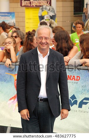 Giffoni Valle Piana, Sa, Italy - July 23, 2015: Walter Veltroni at Giffoni Film Festival 2015 - on July 23, 2015 in Giffoni Valle Piana, Italy