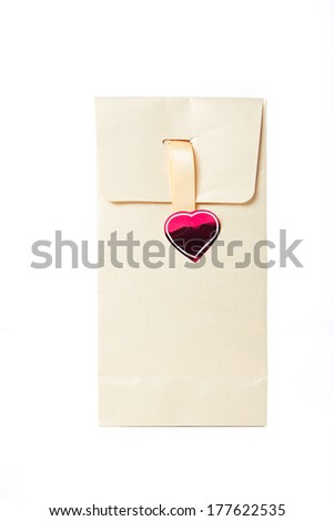 gift bag - stock photo