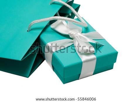 Gift bag and gift box - stock photo