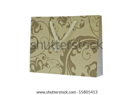 Gift bag isolated on white