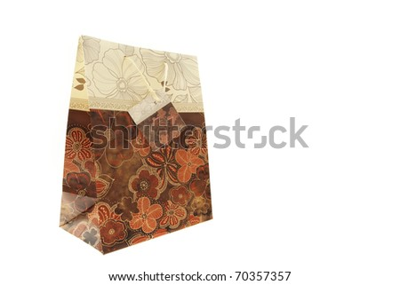 Gift bag isolated on white background - stock photo