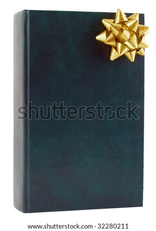 gift book isolated on white - stock photo