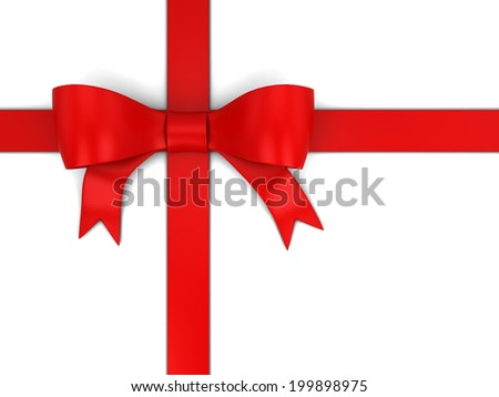 Gift bow. 3d illustration isolated on white background
