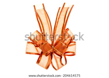 gift bow isolated on white background
